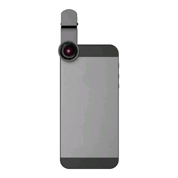 db12401f3 Šošovka (objektív) na mobil, s klipom, plast/hliník, čierna, 3v1, No ...