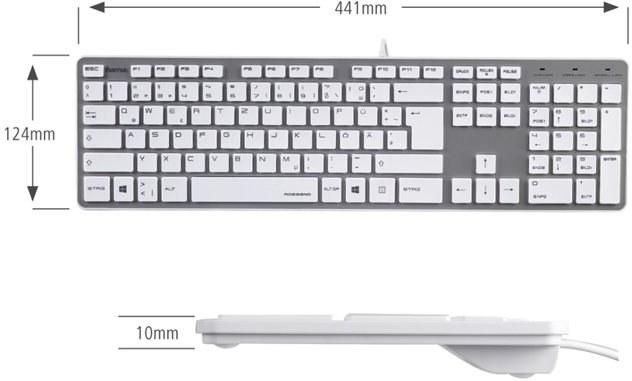 8901d3843 Hama Rossano, klávesnica, bielo-strieborná, SK+CZ 182668 | Datacomp.sk