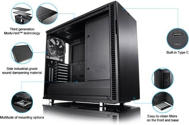 938d75ae7 Fractal Design Define R6 USB-C, čierna FD-CA-DEF-R6C-BK | Datacomp.sk