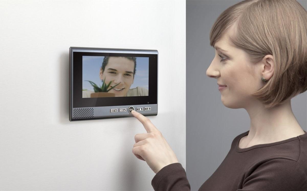 Technaxx bezdrôtový video zvonček s kamerou vrátane LCD monitora 7