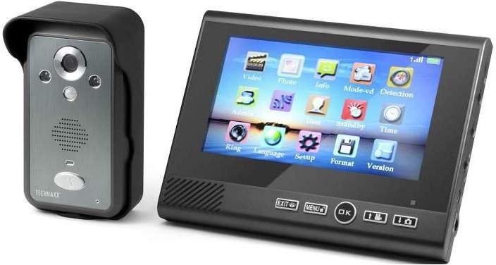Technaxx bezdrôtový zvonček s kamerou vrátane LCD monitora 7