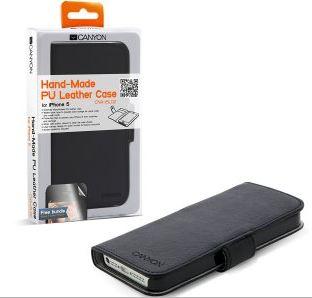 Canyon CNA-I5L02 ručné vyrábané púzdro pre iPhone 5 z umelej kože ... e5cb5356133