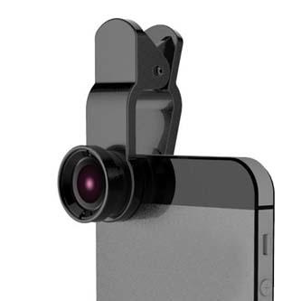 a64231c51 Šošovka (objektív) na mobil, s klipom, plast/hliník, čierna, 3v1, No Name