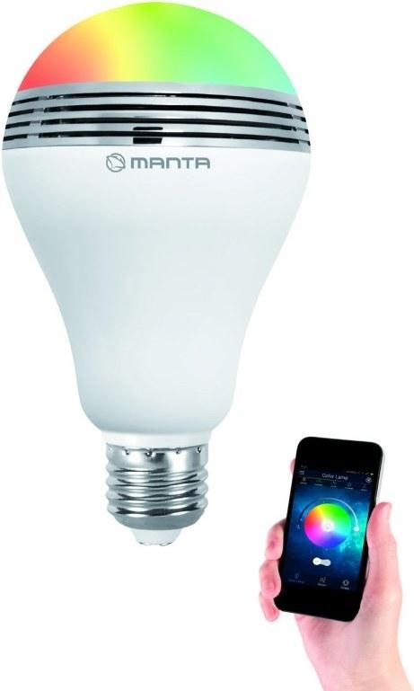 3ad5ec4c3 MANTA Disko LED žiarovka E27 400 lm 15W + BT repro DLB002 | Datacomp.sk