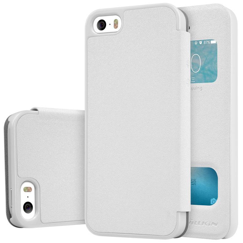Nillkin Sparkle S-View Pouzdro White pro iPhone 5 5S SE ... 88a5304b67b