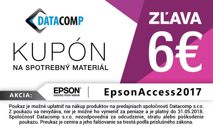 5f8b7a1ed083 Epson zľavový kupón 6€ na spotrebný materiál (Fotopapier