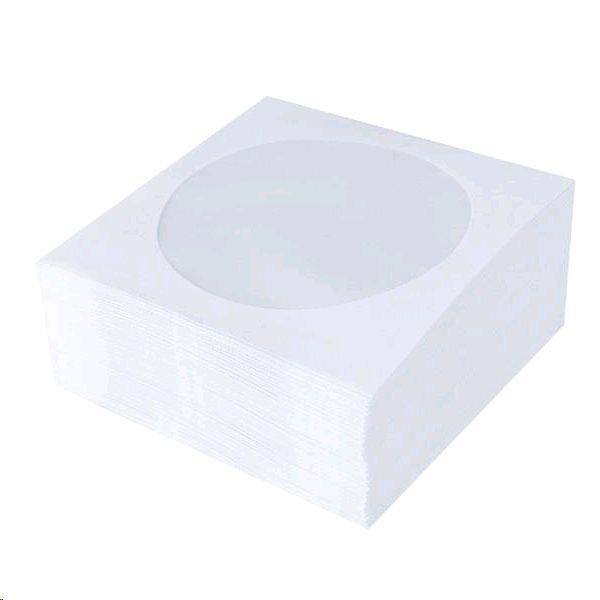 870d3623e Esperanza papierové obálky s okienkom na CD | 1 ks, biele 5007 ...